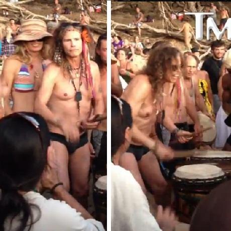 steven tyler drumming maui