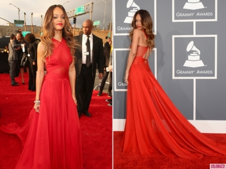 Rihanna arrives at Grammy Awards
