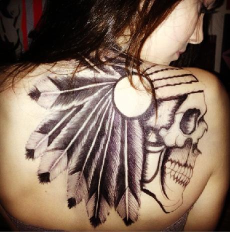 kendall jenner sharpie tattoo