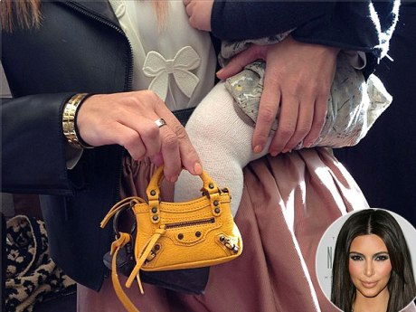 Kim Kardashian, Penelope Disick and Her Mini Balenciaga Bag
